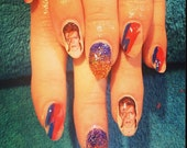 DAVID BOWIE Ziggy Stardust nail decals