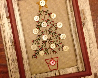 O Christmas Tree Stitchery Pattern