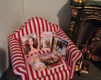 Doll house miniature fashion and dollhouse magazines set