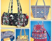 Quilted Tote Bag Purse Handbag Pattern, McCall's M4118,  New and Uncut Pattern