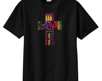 Many Names Of Jesus Cross Faith New T Shirt S M L XL 2X 3X 4X 5X