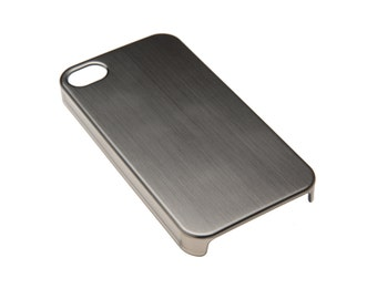 Brushed Gunmetal Metallic iPhone 4/4s Case