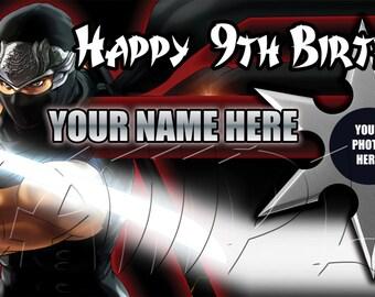 Ninja Birthday Banner Personalized