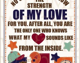 Strength Of My Love, 8x10 Nursery Art, NoJo My Little MVP, Nursery Print