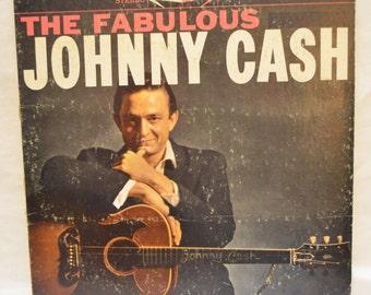 Vintage Record The Fabulous Johnny Cash Album XSM-44408