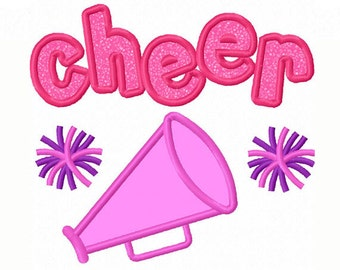 Cheer Megaphone Applique Machine Embroidery Design NO:1369
