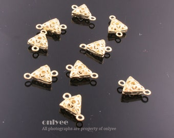 8pcs-11mmX7mmX2mm Gold plated  Romantic Small Filigree connector, pendants(K537G)