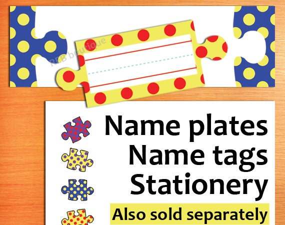 Persnickety image for printable name plates