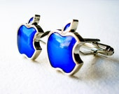 Blue Apple Cuff links Mac