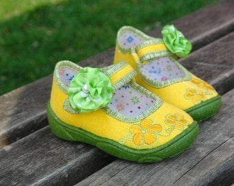 baby girl shoes yellow summer dress girls shoes, cotton, baby and kids gift ideas children toddler