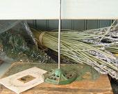 Vintage Industrial Green Cast Iron Receipt Spike