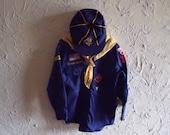 Vintage 1970s Cub Scout Uniform With Shirt Hat Neckerchief Belt Scarf Slide And Belt Hanger