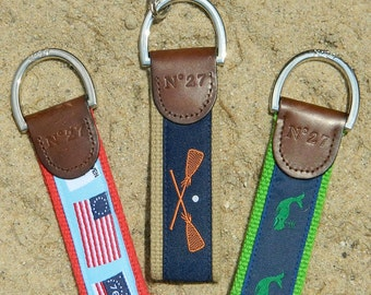 3 Summer Leather Key Chain Package...3 Key Chains for a Bundled Price