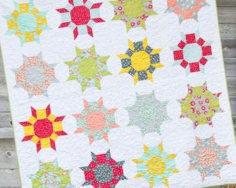 Cluck Cluck Sew Wallflowers Quilt Pattern
