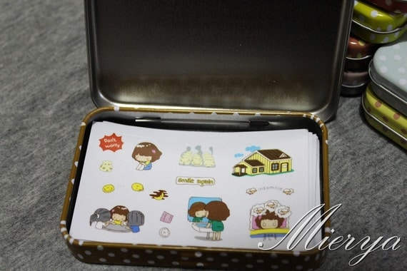 Parasol Cantilever Sale : 20% OFF Tin Box Sticker Set Korean Girl Sticker Deco
