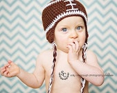Crochet Football Beanie, Newborn Photo Prop, Football Hat