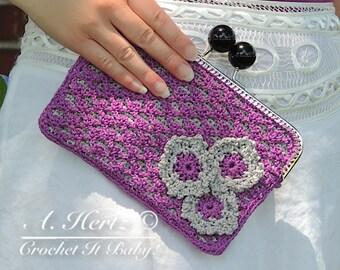 Crochet Pretty Picot Purse - PATTERN ONLY