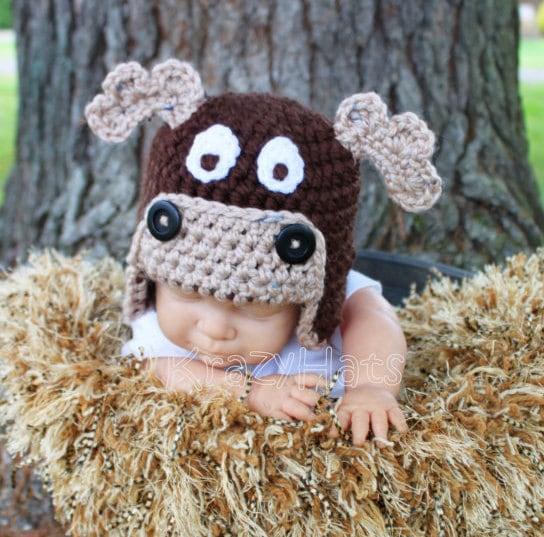 Knitting Pattern For Moose Hat : Moose Hat. Crochet Moose hat.