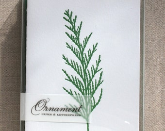 Cedar Pine Letterpress Card Set
