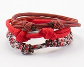 Paracord Bracelet Red Collection Buy Two Get One Free Minimalist Design