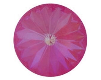 Set of 6 Swarovski 1122 Crystal Rivolis 12mm Ultra Pink AB (sku 4934 - 1122-12-UPNK-AB)
