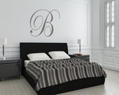 Cursive Wall Leters Initial Wall Decal Art Monogram Initial Wall Decor Letter