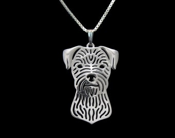 Border Terrier jewelry - sterling silver pendant and necklace