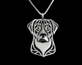 Greater Swiss Mountain Dog jewelry - sterling silver pendant and necklace