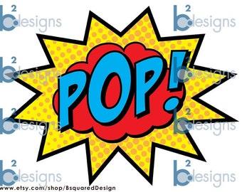 Superhero Party Signs • Boom, Pow, Zap, Bam, Pop • 11 x 17 • PC color • INSTANT DOWNLOAD
