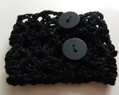 Reserved - Black Crocheted Bracelet
