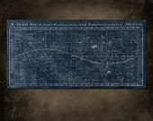 "Vintage Map of the Universe on METAL 48x24""  FREE SHIPPING Single Panel"