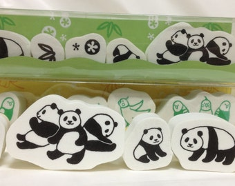 Panda Rubber Stamp Set (0987-002)  Price depends on order volume. Buy other items together for BETTER price.