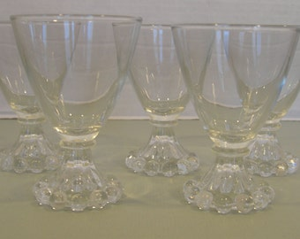 Boopie Anchor Hocking Berwick Glassware Sherry Cordial Glasses - Set of 4 (2 sets available)