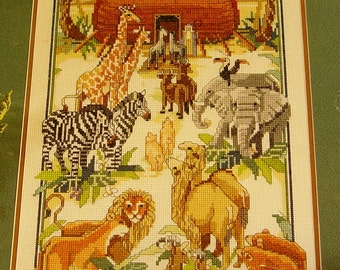 Vintage Cross Stitch Kit - Bucilla - Noah's Ark