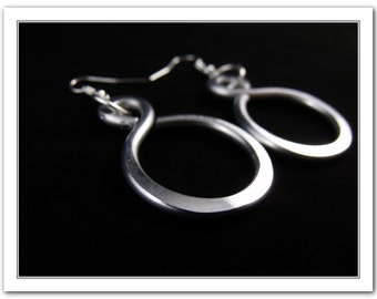 Large Aluminum Dangle Hoop Infinity Earrings