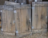 LOT OF 3 --  60 year old vintage ammo box crate lids wooden doors for cabinet cupboard furniture reclaimed wood projects or