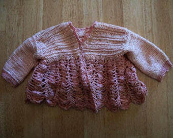 VINTAGE 1950s Crocheted Baby or Doll jacket