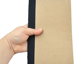 Wholesale 50 Handmade Composition Notebook, Hand Stitched, 5.5 x 8.5 inches, 60 pages, Chipboard, Unlined White Pages, Blank Kraft Journal