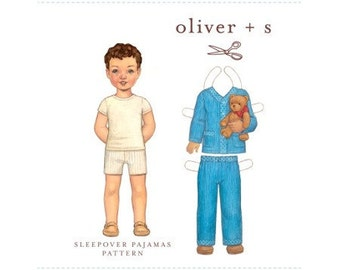 Oliver and S Pattern - Sleepover Pajamas - Sizes 6M - 4