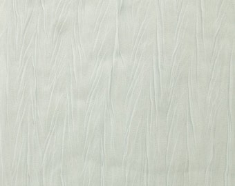"Crinkled/Crush Chiffon Fabric - WHITE - Sold By The Yard 57"" Width"