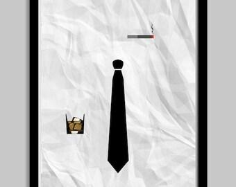 Marketing Men Minimalist Poster - 18x24