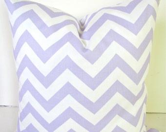 Lavender PILLOWS Decorative Throw Pillows Lavender Chevron Pillow  12x16 18 20x20 Lilac Throw Pillow Covers Purple Baby Nursery .Sale.