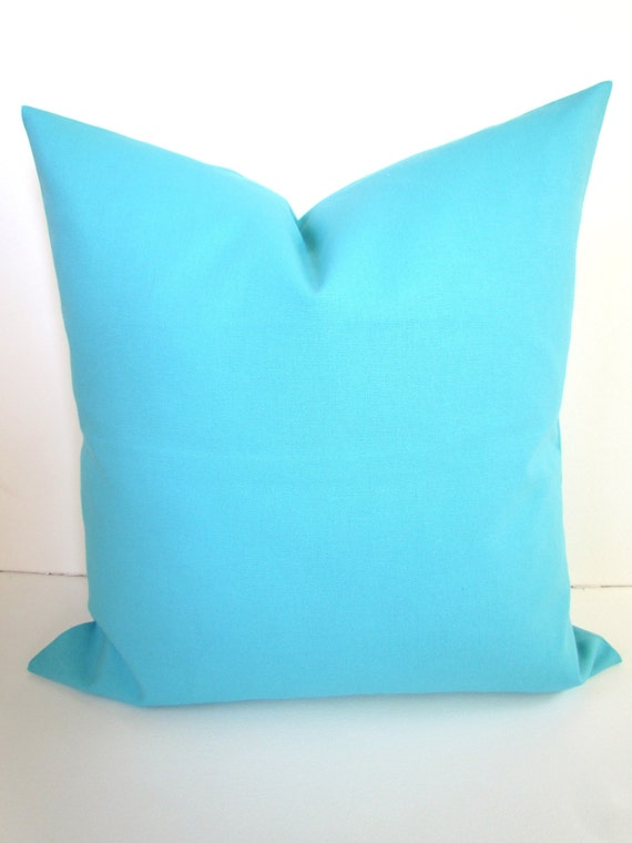 Throw Pillows Aqua Blue : Items similar to BLUE PILLOW Covers Aqua Throw Pillows Aqua Blue Pillow Covers Aqua Pillow SOLID ...
