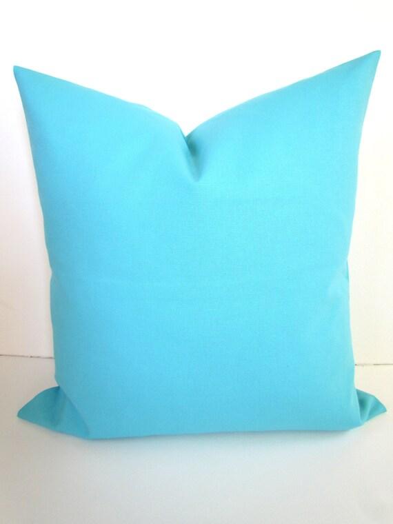 Items similar to BLUE PILLOW Covers Aqua Throw Pillows Aqua Blue Pillow Covers Aqua Pillow SOLID ...