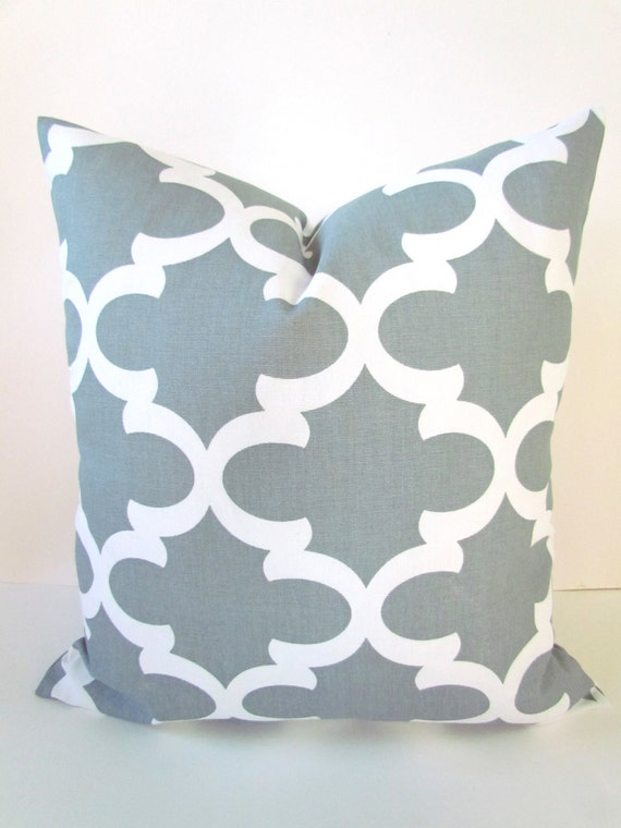 PILLOW 20x20 Gray Throw Pillow Covers 20 x 20 by SayItWithPillows