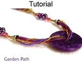 Beading Tutorial Pattern Necklace - Multi-Strand Beaded Jewelry - Simple Bead Patterns - Garden Path #1877