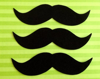 Set of 3 Iron-On Mustaches