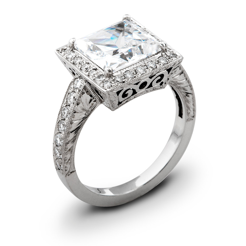 la s vintage 18kt white gold engagement ring 0 50 ctw g vs2