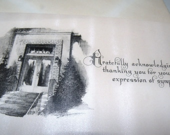 """1920s to 30s """"Thank you for your Kind Sympathy"""" Unused Card and Envelope"""