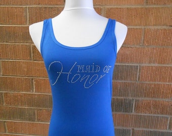 Maid of Honor Tank Top. Bridal Party Tank Tops. Wedding Party Tank Tops. Bachelorette Party Tank Tops. Jersey Style. Bridesmaid. Bride.